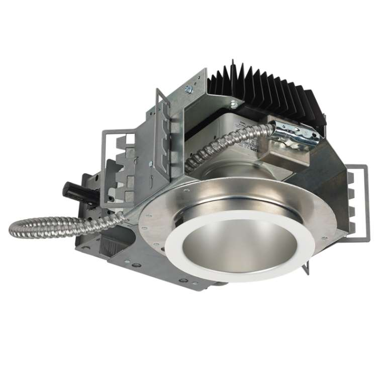 Install Led Recessed Lighting New Construction : Led open new construction recessed round
